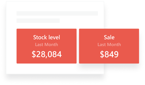 Sales and stock level image