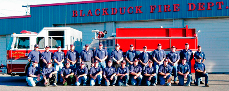 City of Blackduck, MN Fire Department crew and truck