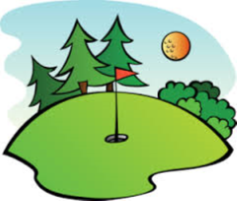 golf course animated illustration