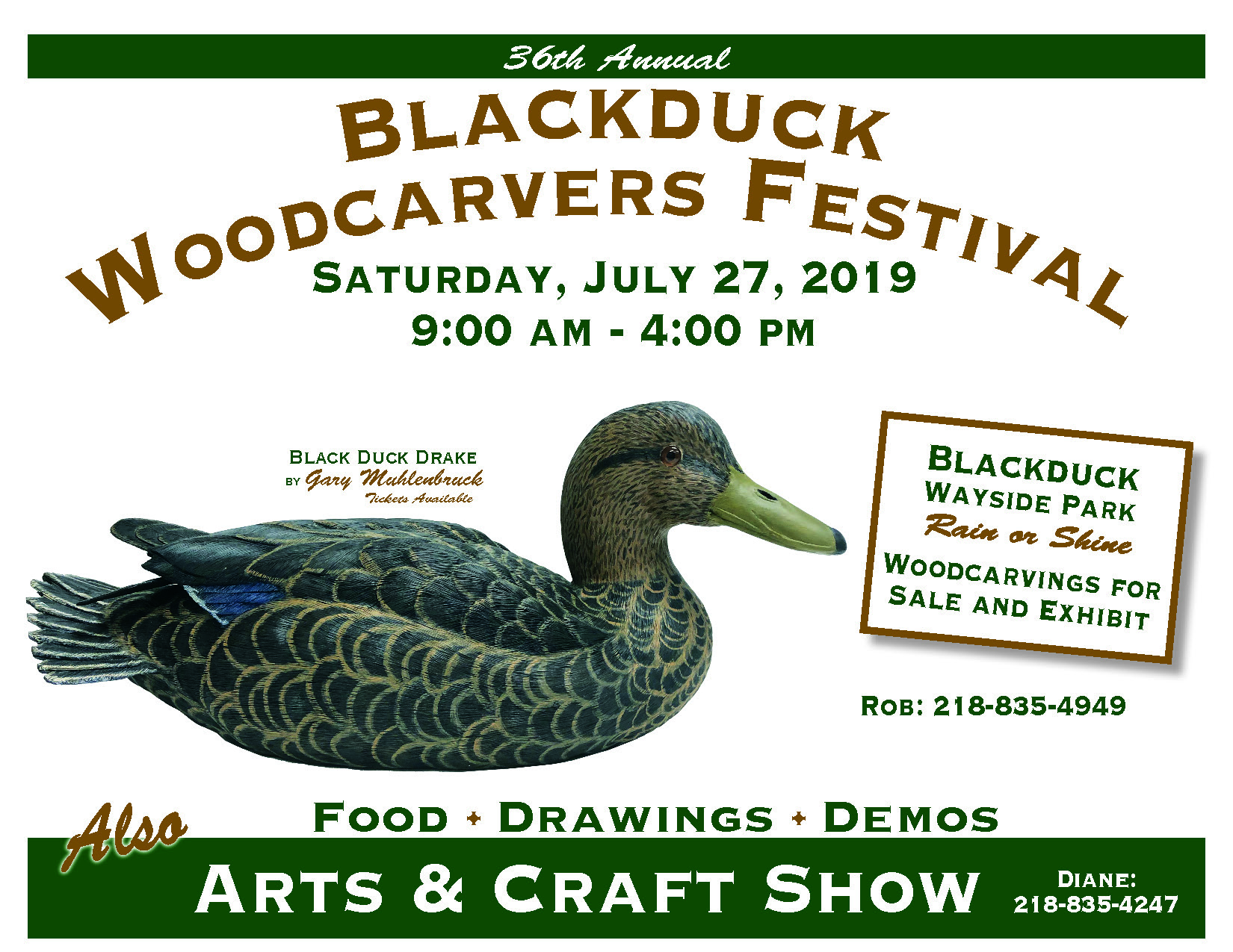 36th Annual Blackduck Woodcarvers Festival