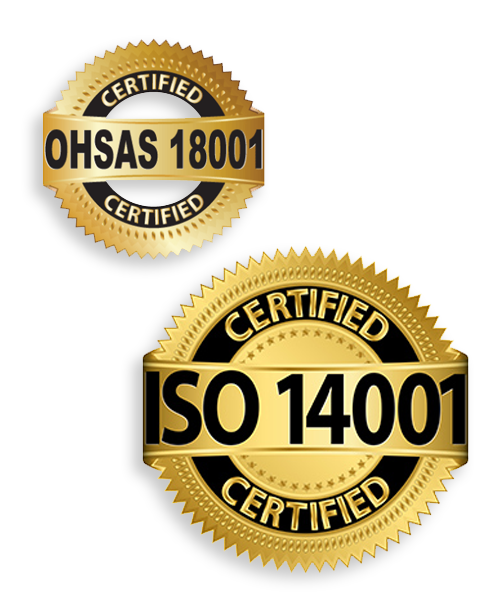 OHSAS 18001 & ISO 14001 Certified