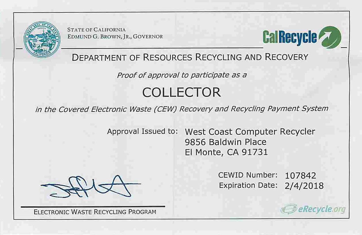 CalRecycle CEWID