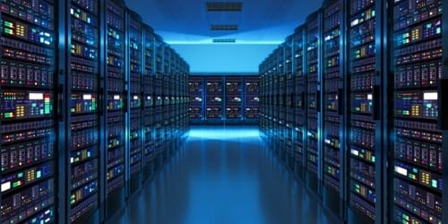 A cluster of servers that are used for data center decommissioning in Orange County, CA