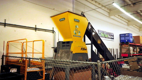 wc recycler shredding device