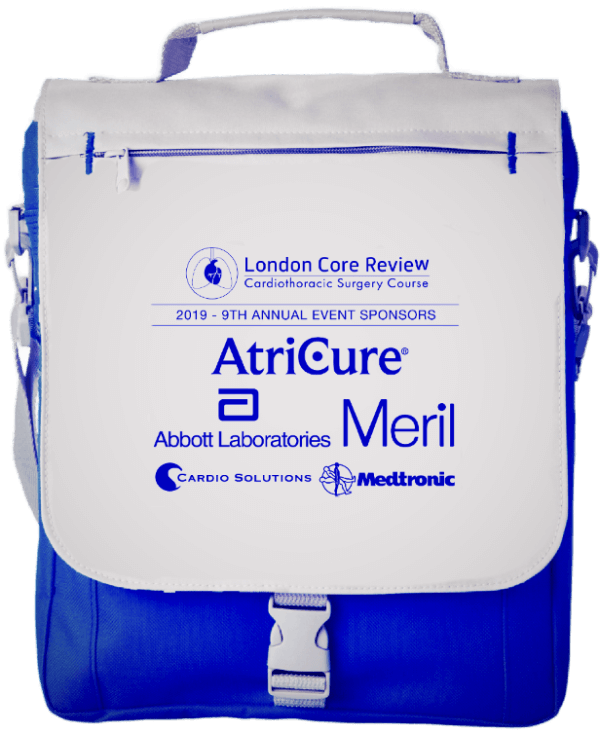 London Core Review Cardiothoracic Surgery Course Bag Image