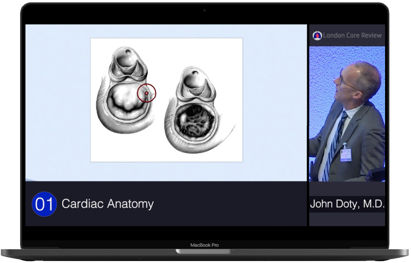 London Core Review Cardiothoracic Surgery Course -  Video & Quiz Laptop Medical Educational Web App Image