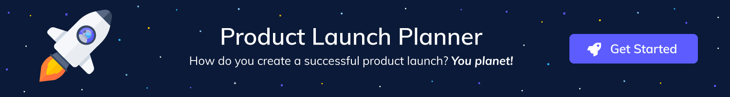 An image of a product launch planner. Get an example product launch plan to work off of with customized deadlines. Great tool for your first product launch.