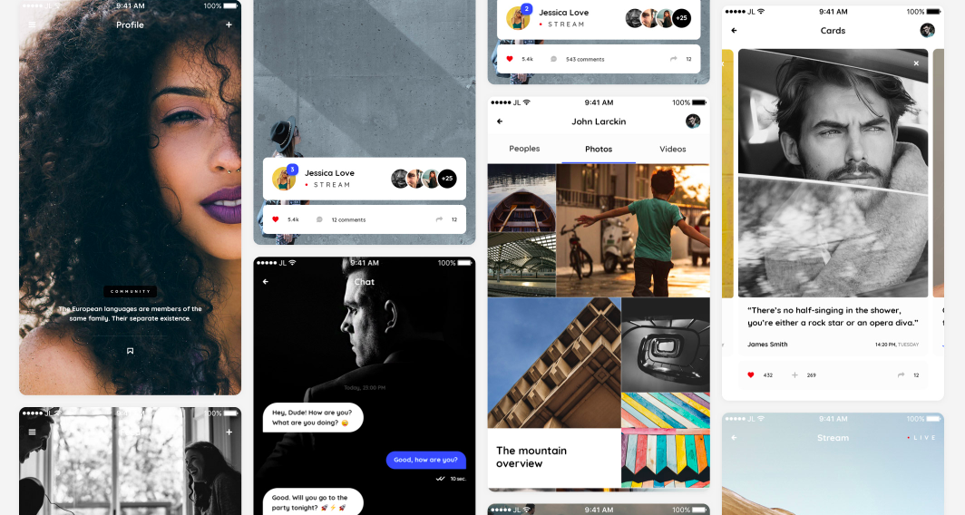 Free Sketch UI kit, free Photoshop UI vector kit for mobile mockups