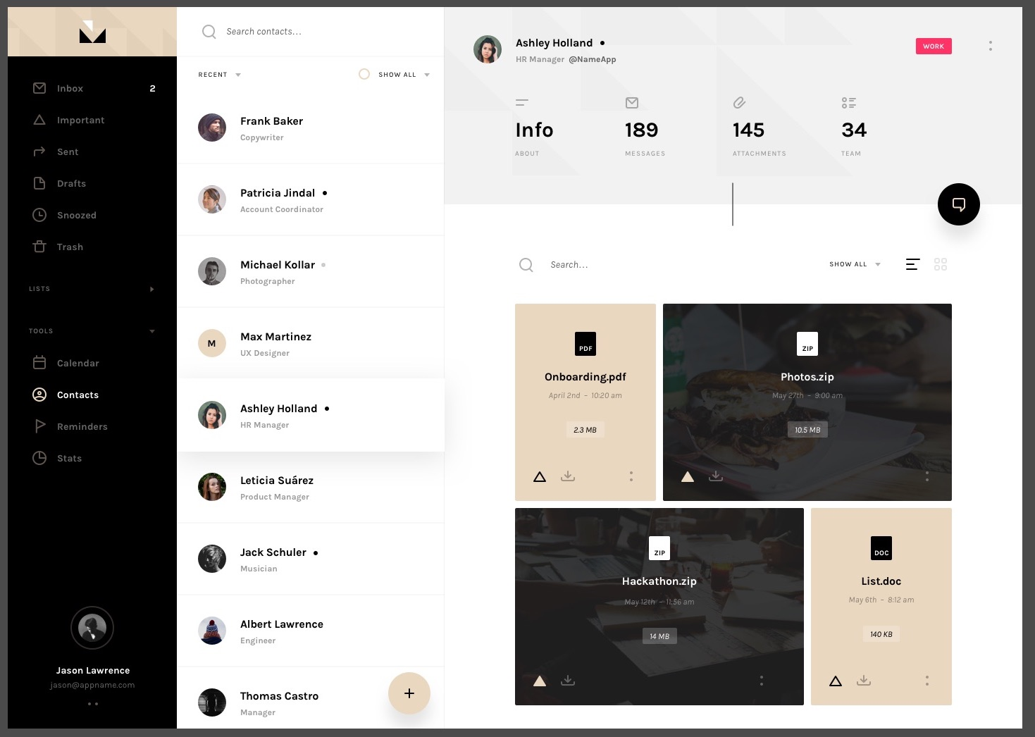 Mail social app UI kit from invision. Free UI kit for making intuitive user experiences and interfaces.