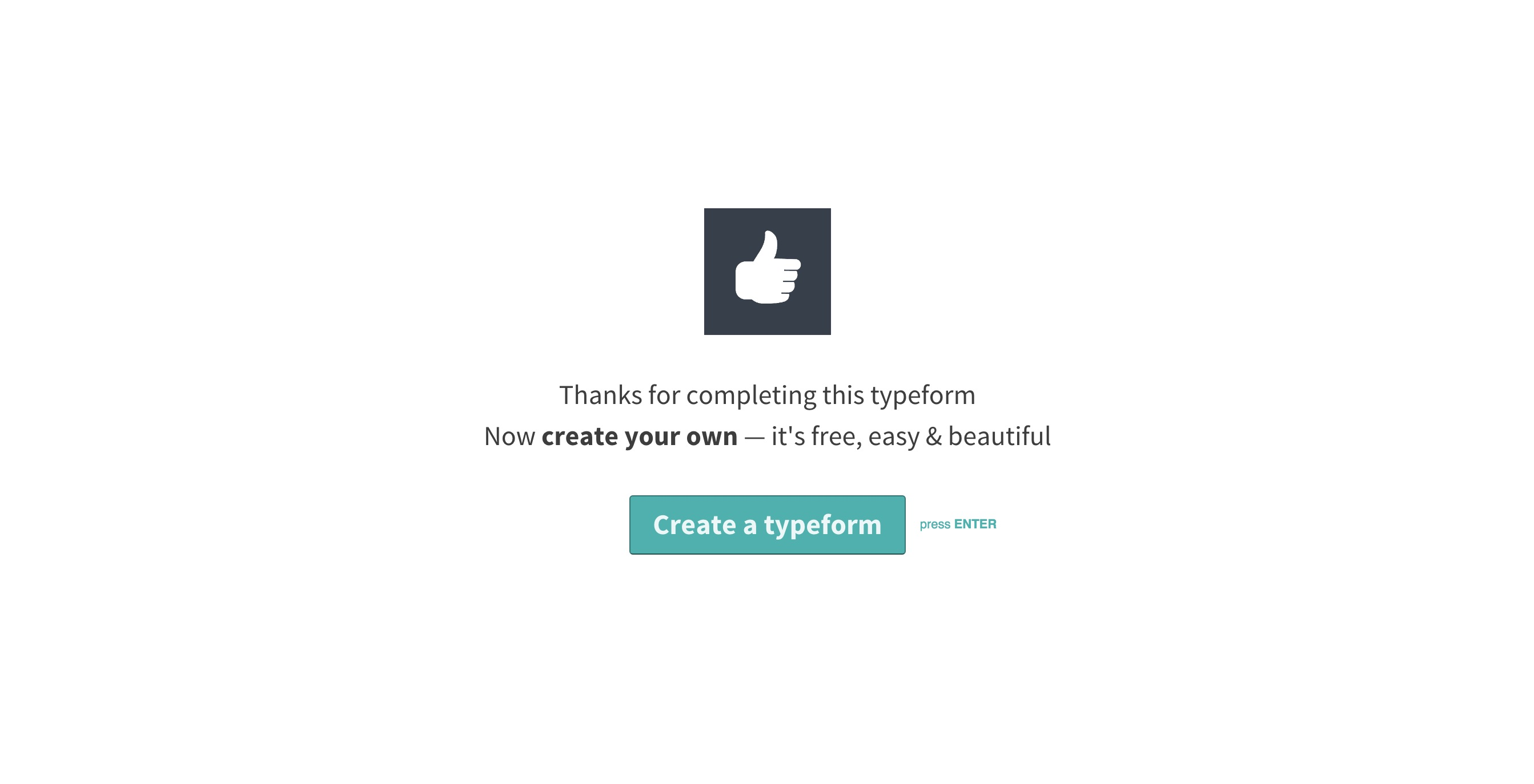 Typeform viral loop cta for freemium accounts