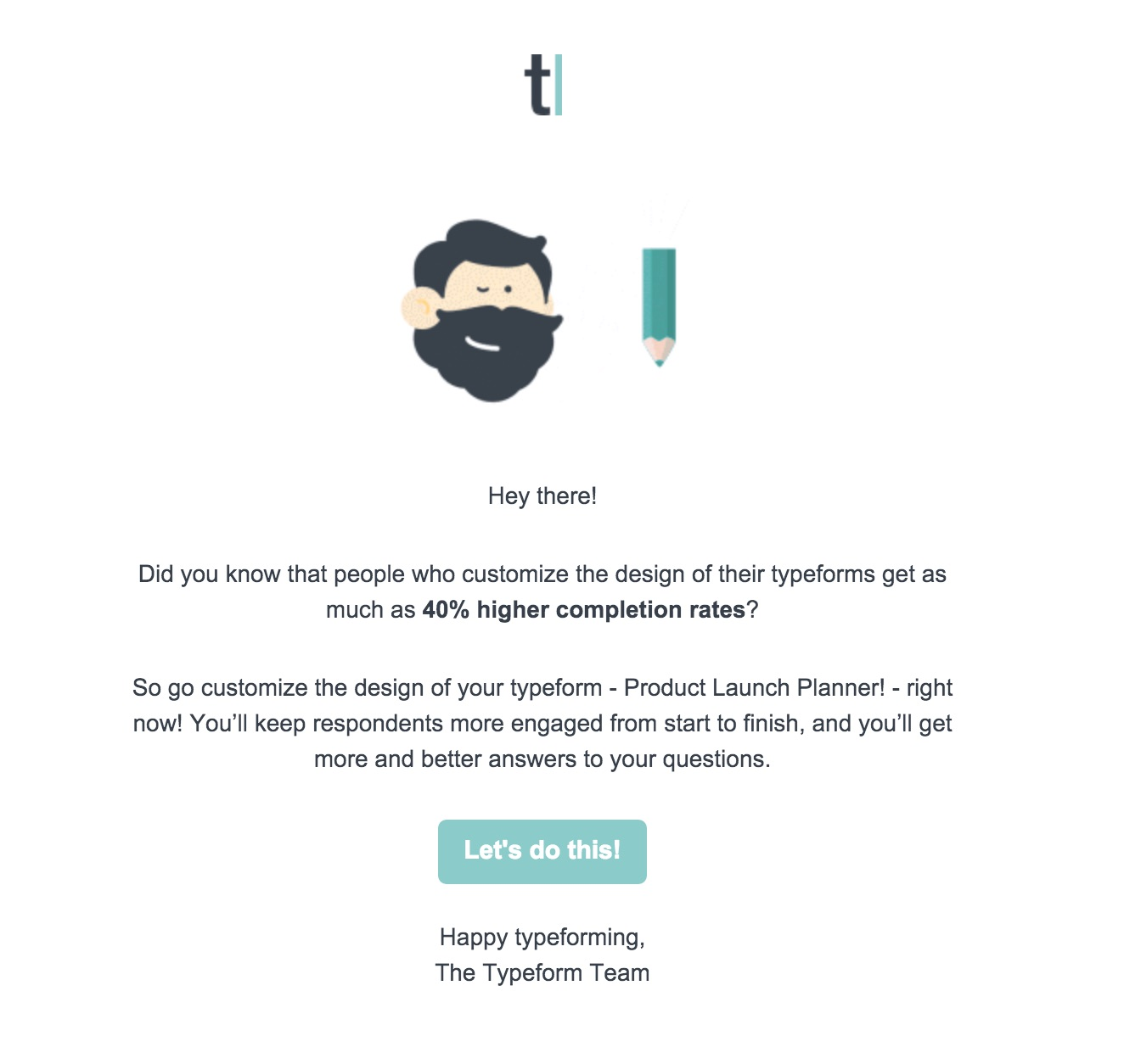 Typeform re-engagement email stuck in state