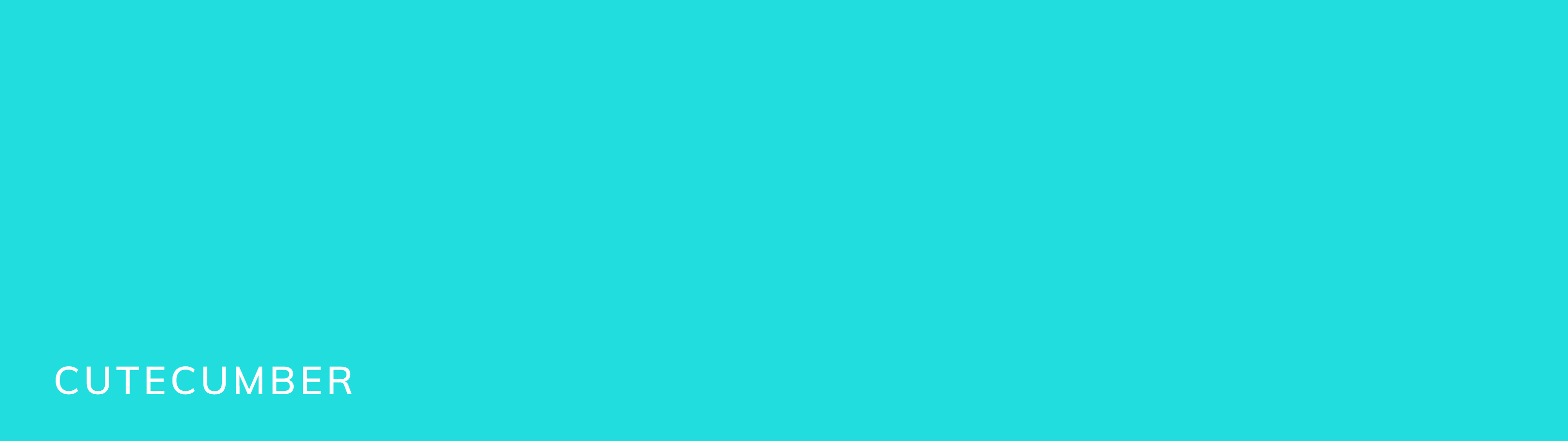Another secondary brand color is this light turqouise/ bright teal color that looks like cucumber spindrift seltzer. We named it cutecumber