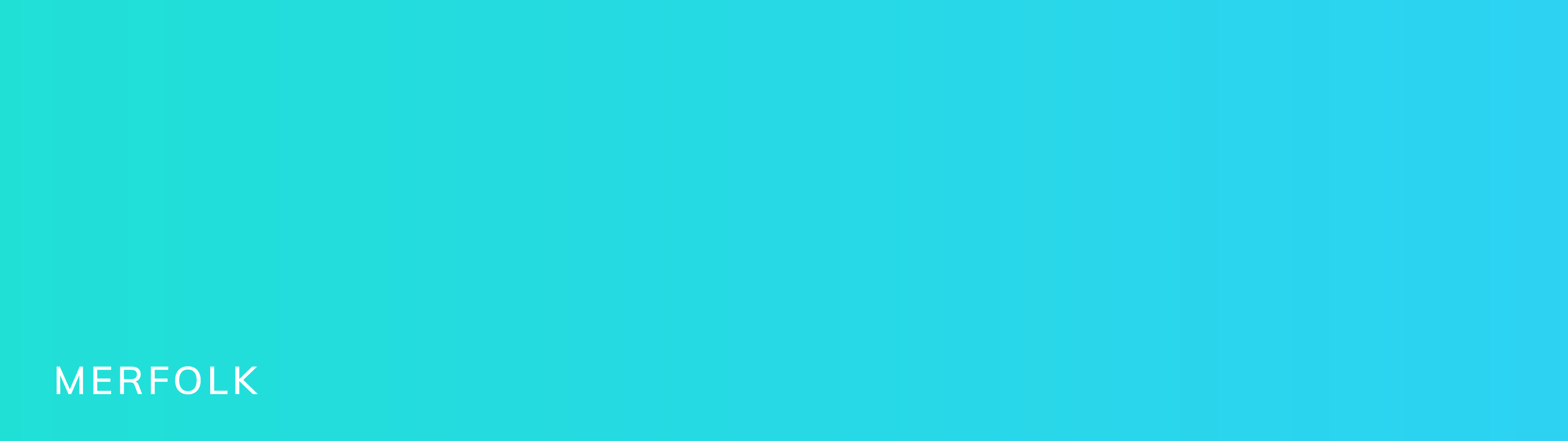 This is another subtle brand color gradient called Merfolk. It shiftf from a vibrant light turquoise to a cooler light blue.