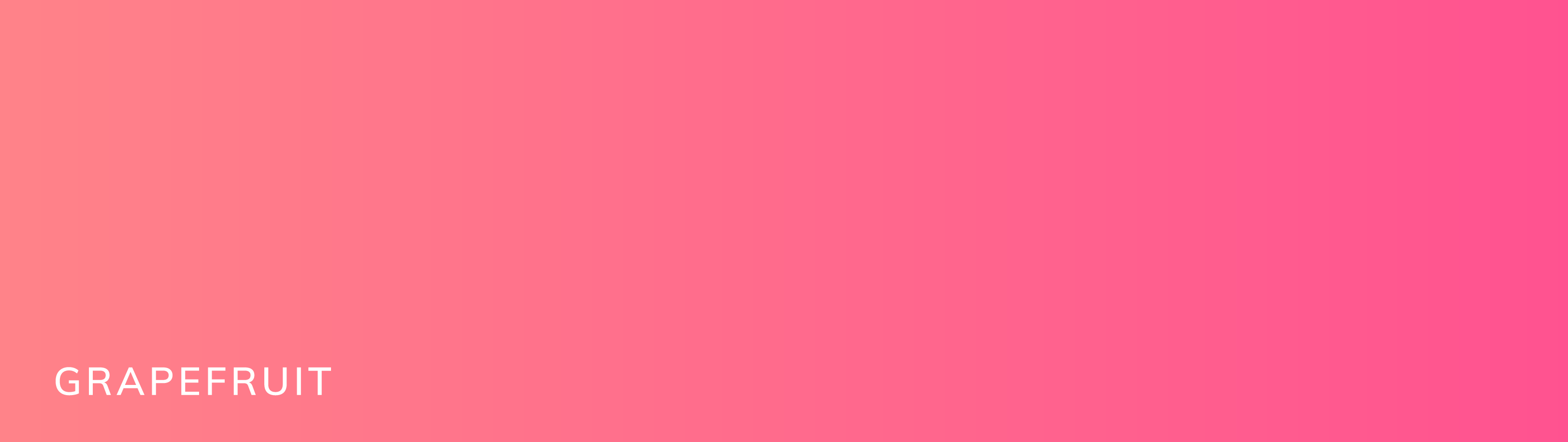 A gradient called grapefruit. This shows an orange-y pink color shifting toward a bright, deep magenta color.