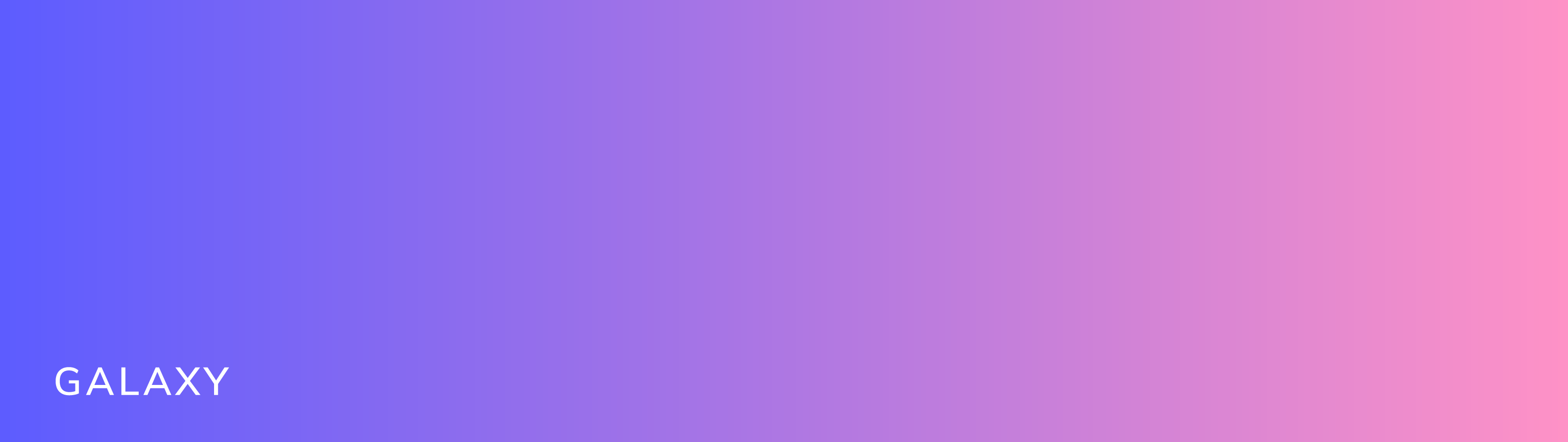 This brand gradient is called galaxy. It starts as a purple on the left and shifts to a pink on the right.