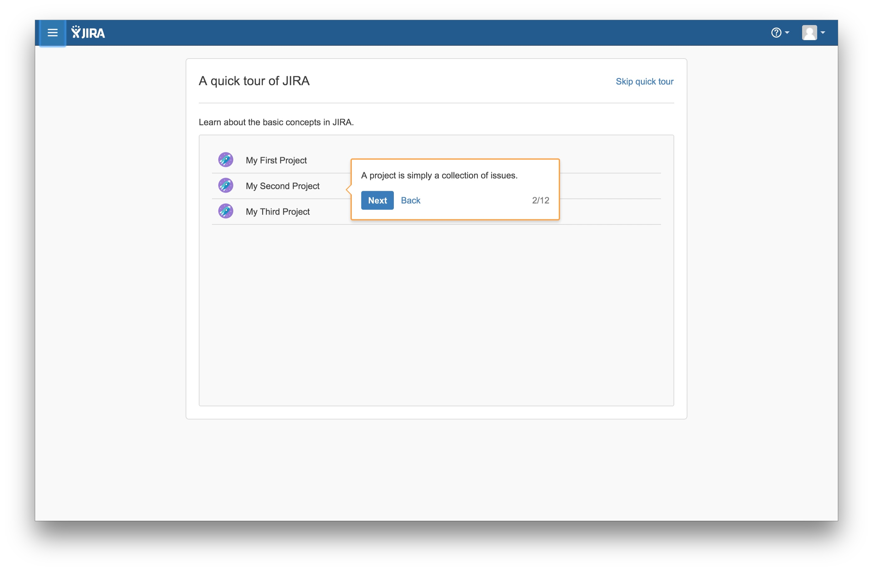 JIRA user onboarding tooltip 2