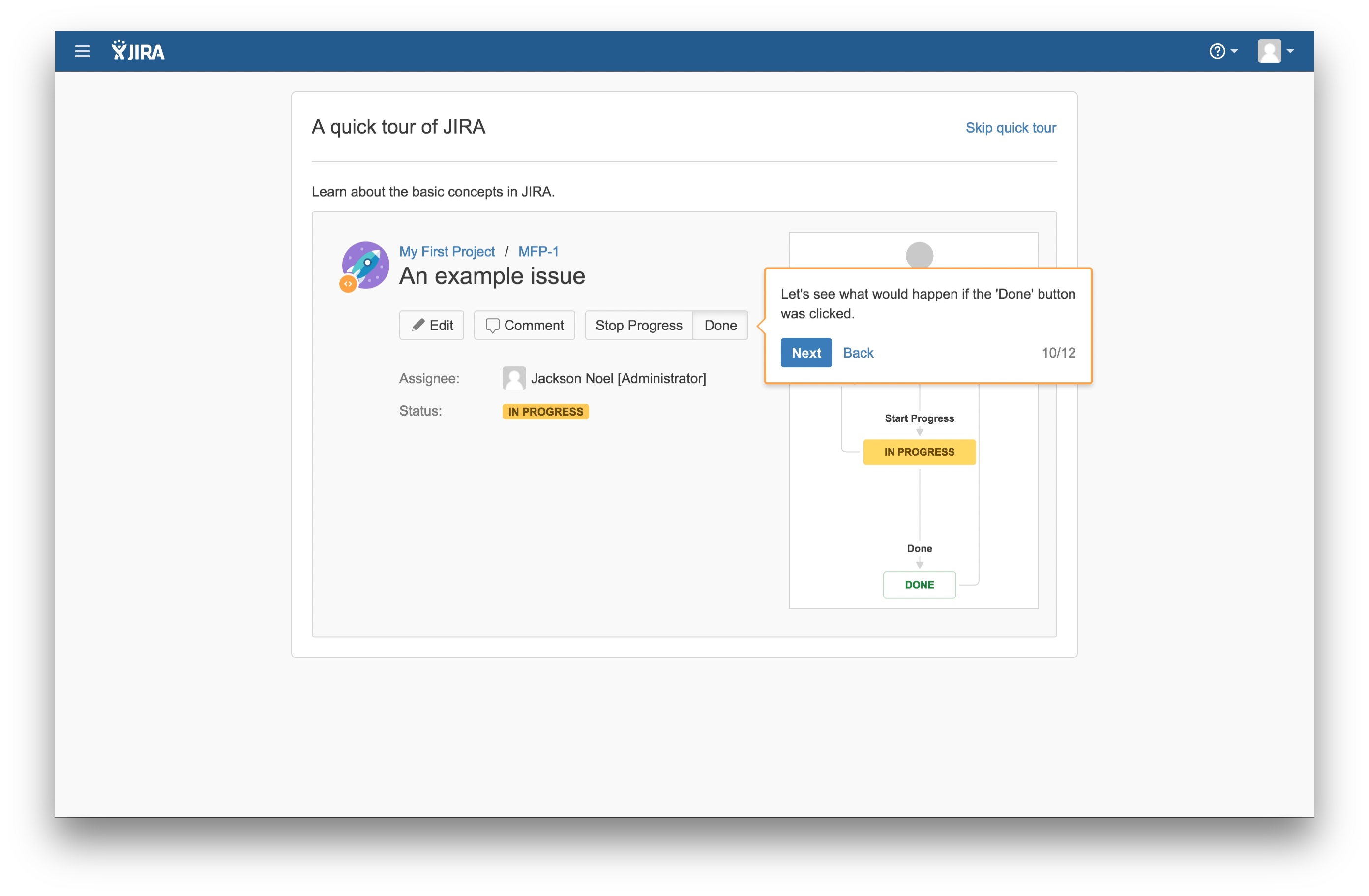JIRA user onboarding tooltip 10