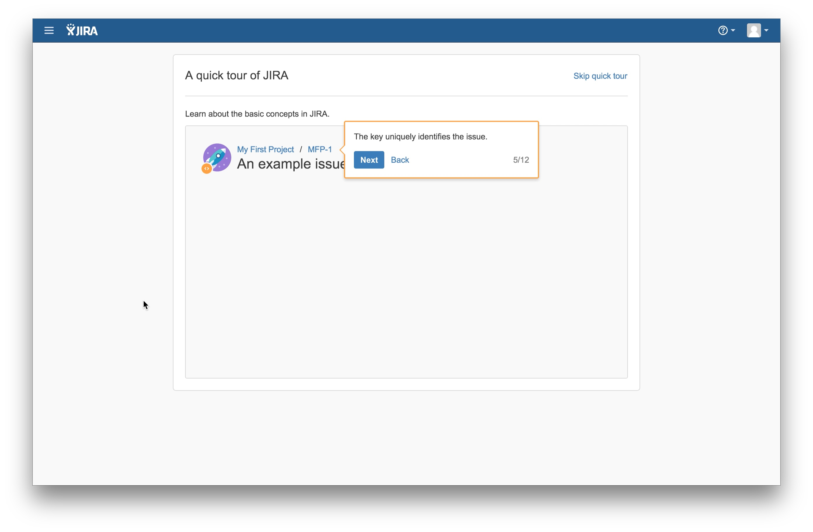 JIRA user onboarding tooltip 5