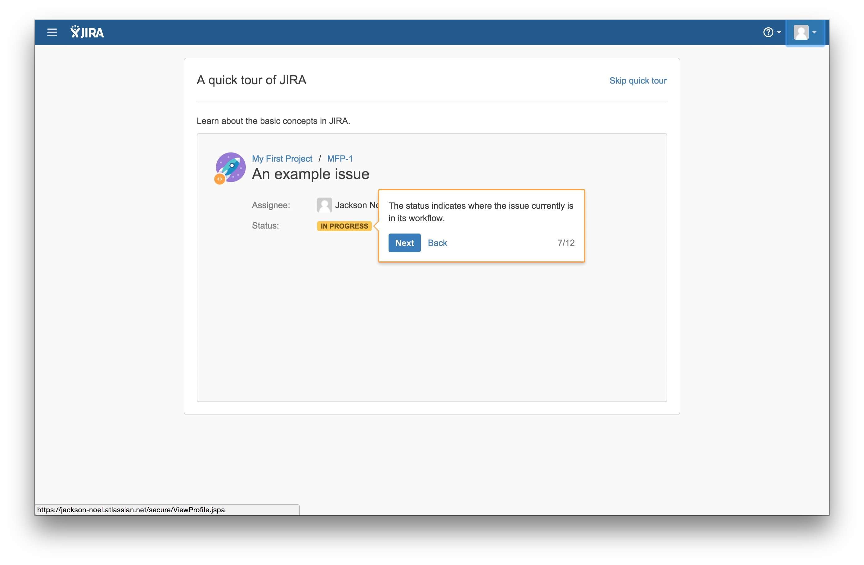 JIRA user onboarding tooltip 7