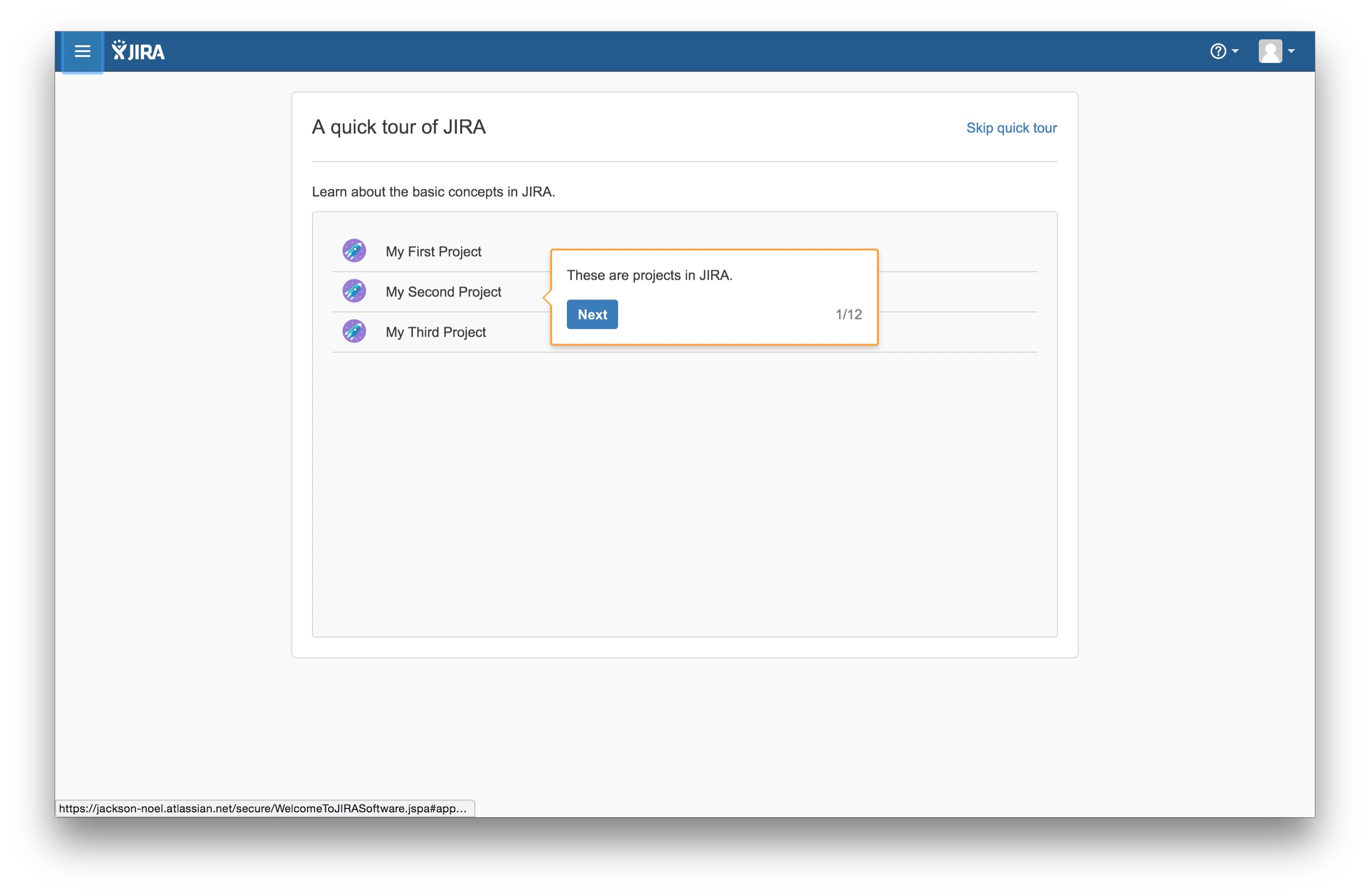 JIRA user onboarding tooltip 1