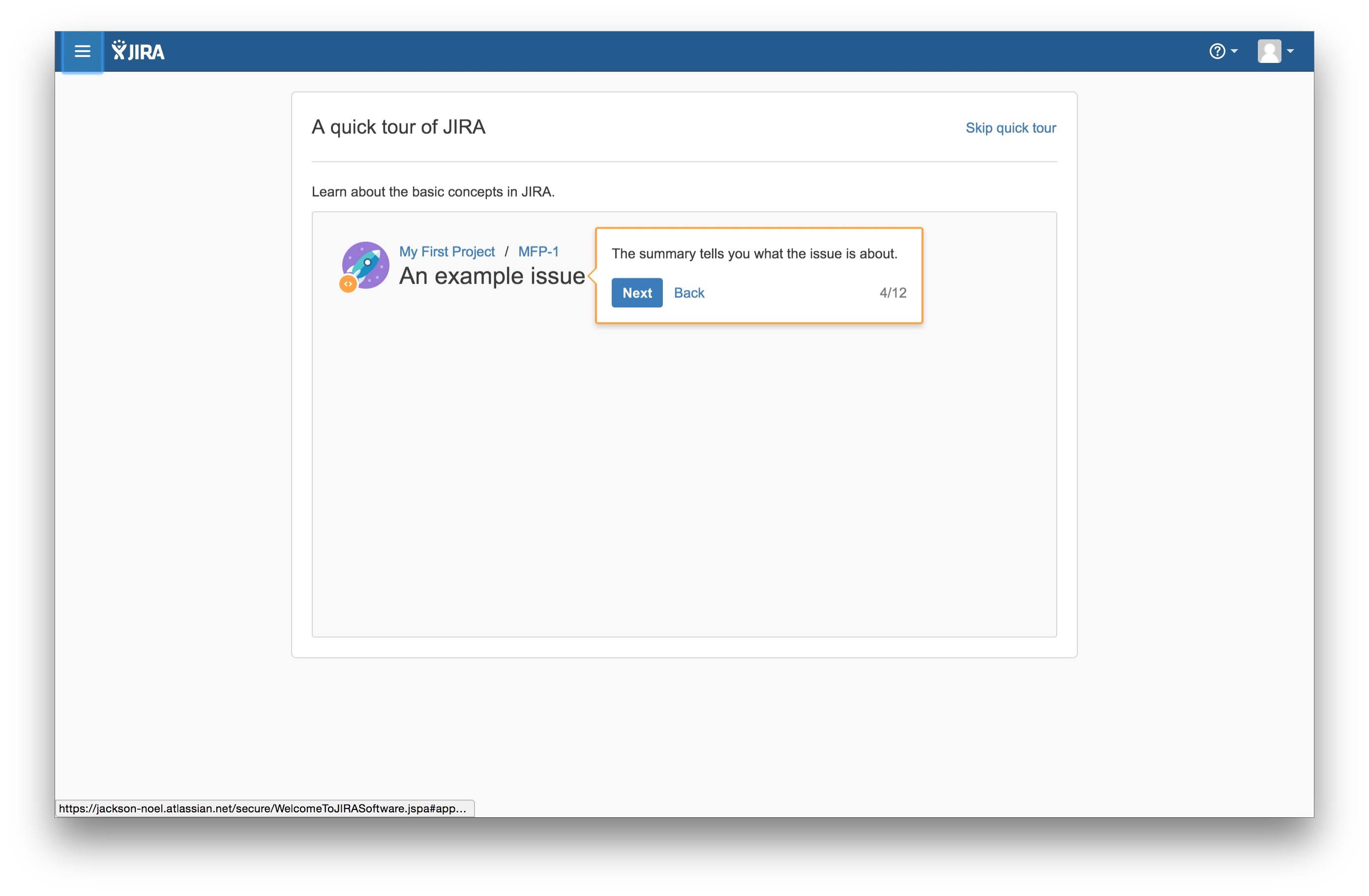 JIRA user onboarding tooltip 4