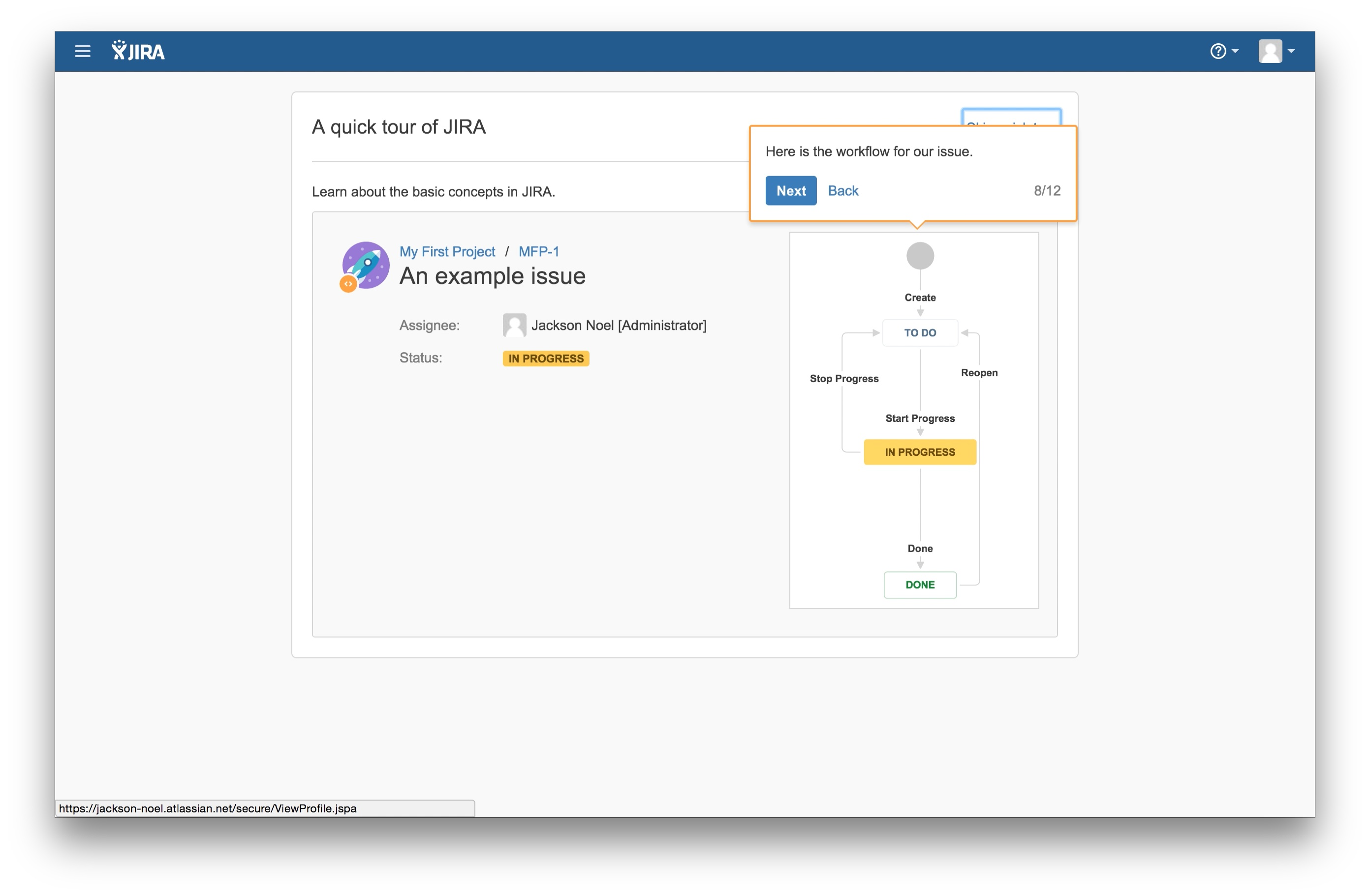 JIRA user onboarding tooltip 8