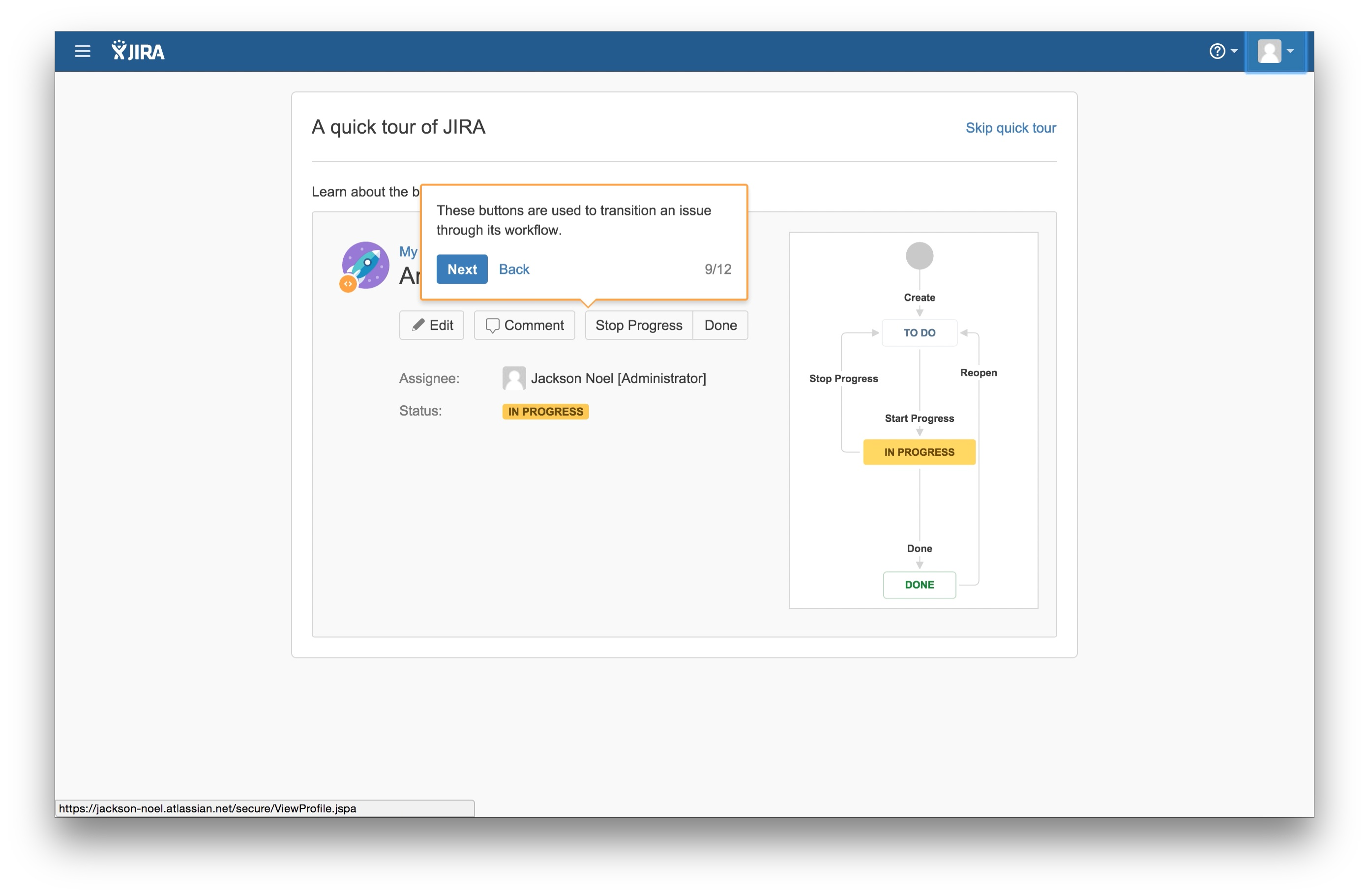 JIRA user onboarding tooltip 9