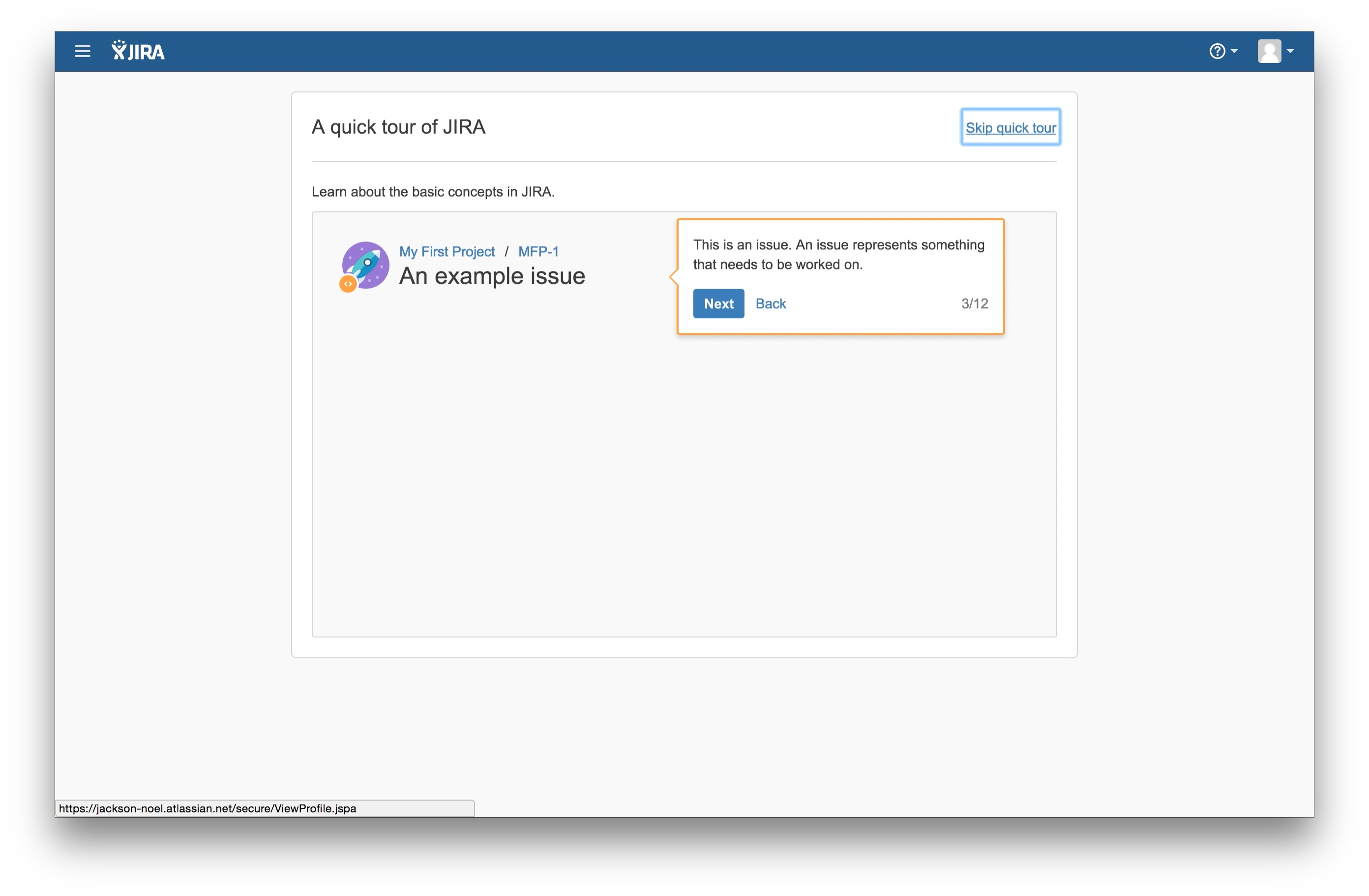 JIRA user onboarding tooltip 3
