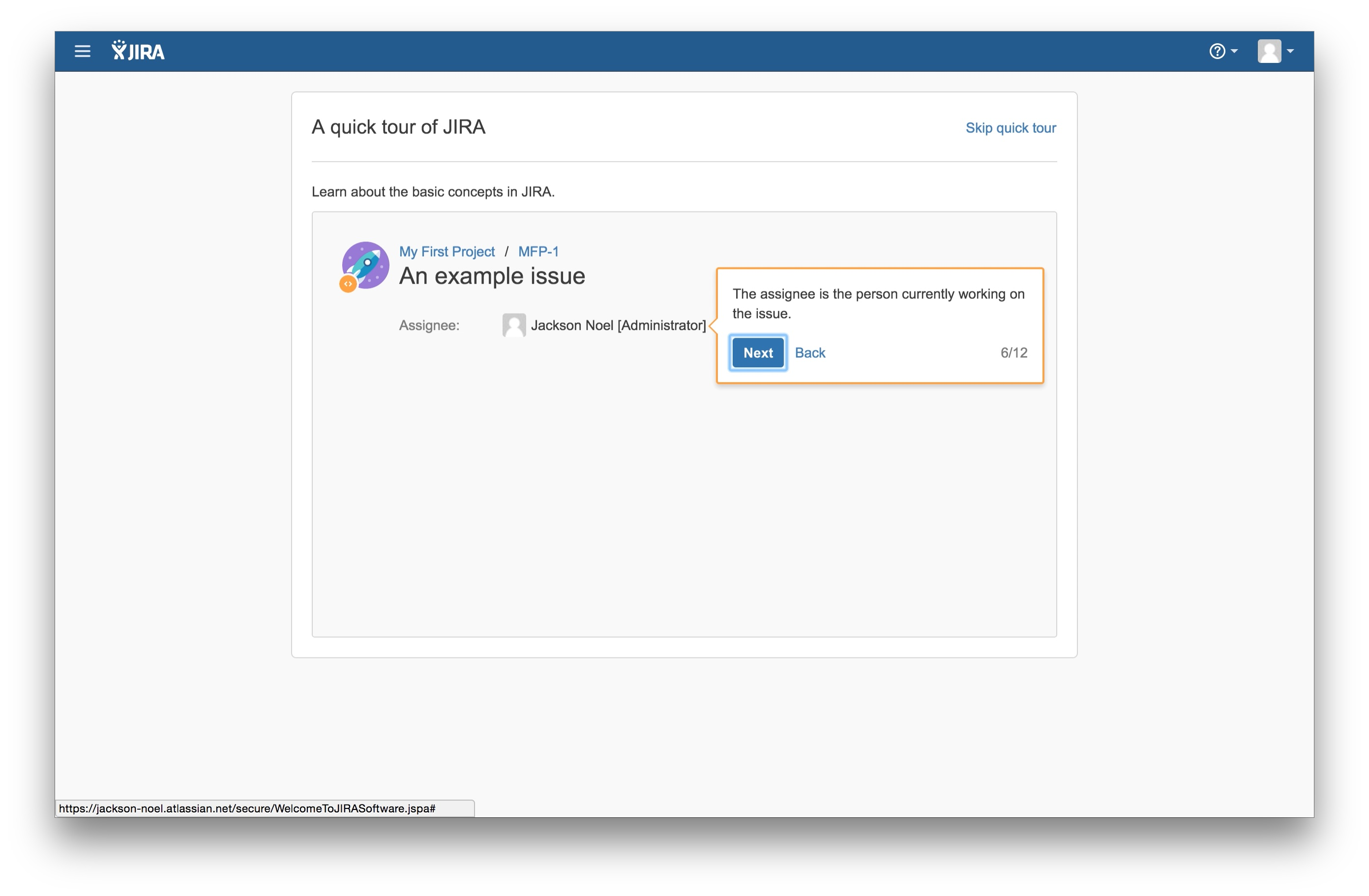 JIRA user onboarding tooltip 6