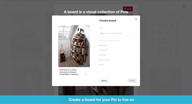 Pinterest's product tour from 2017