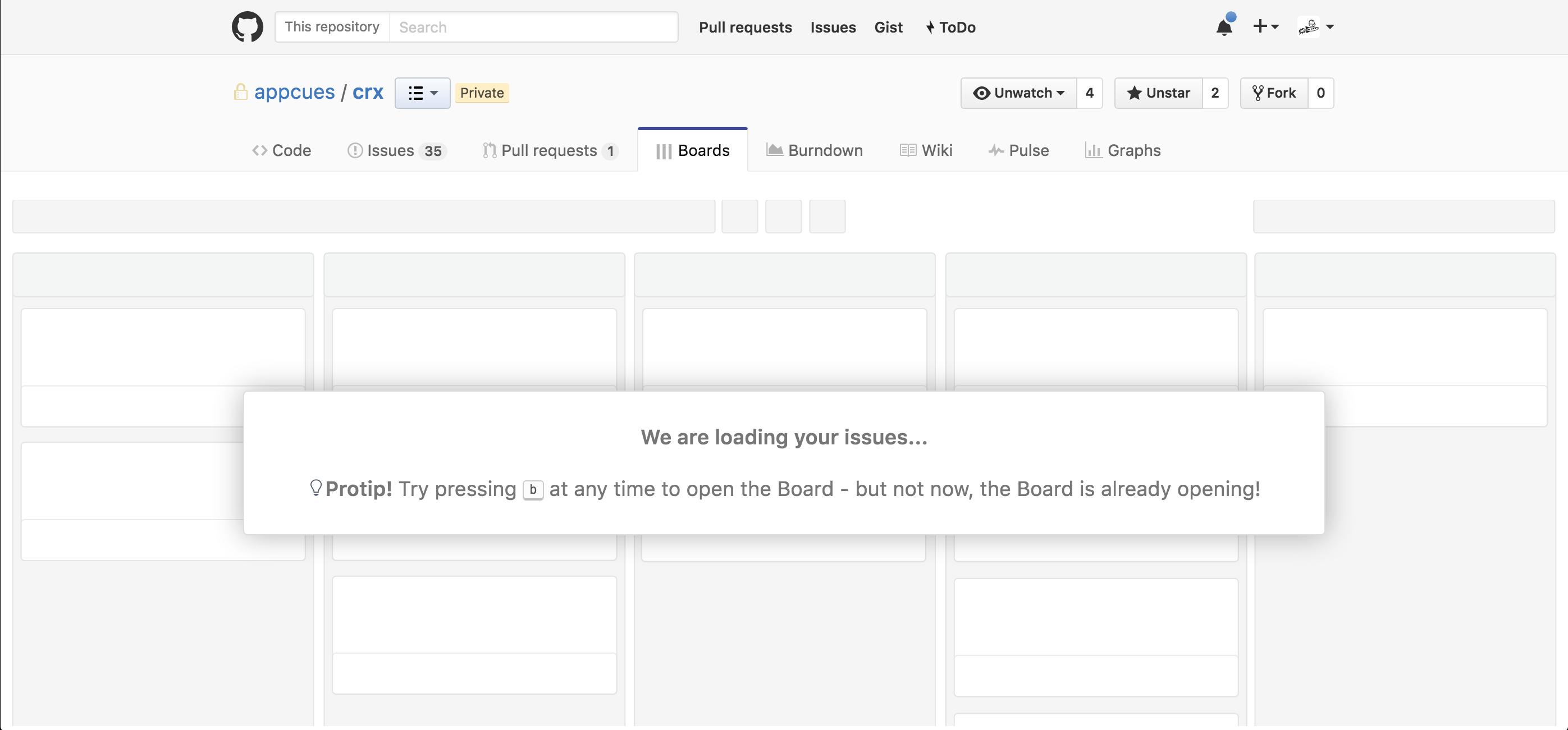 ZenHub's loading page