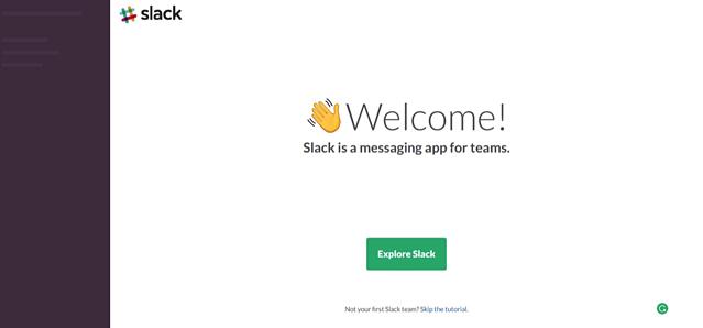 slack welcome
