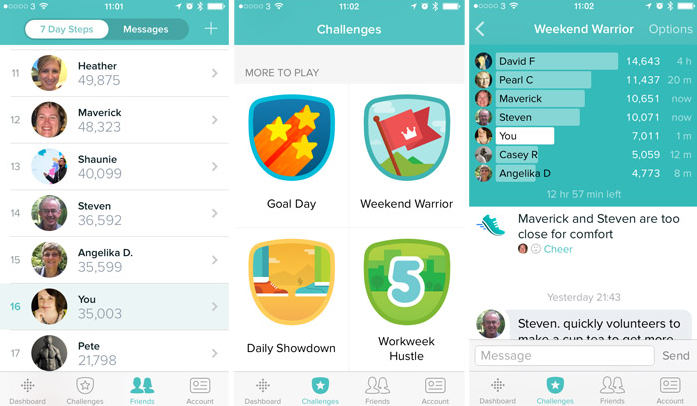 this is an example of fitbit's gamification. fitbit offers in-app challenges to kee users engaged. gamification examples
