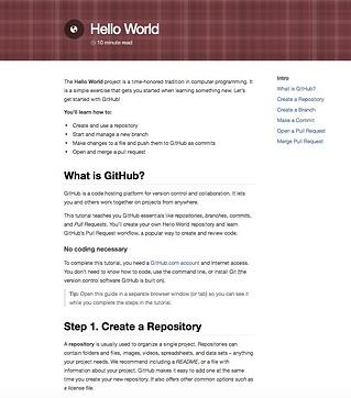 GitHub's Hello World guide