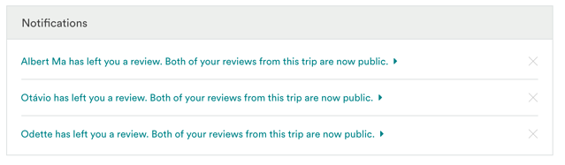 airbnb double-blind review process with new review notifications