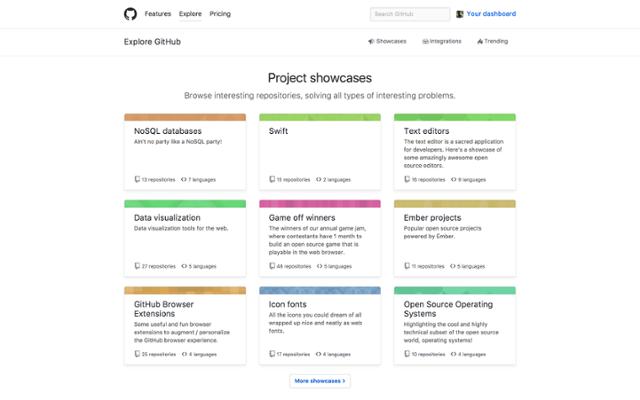 github open source explore