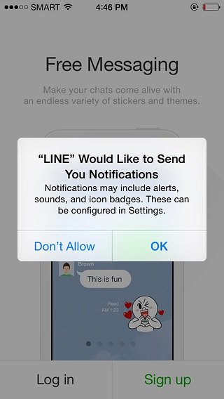 line opt in to push notifications old prompt
