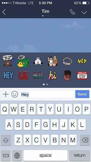 LINE stickers core feature