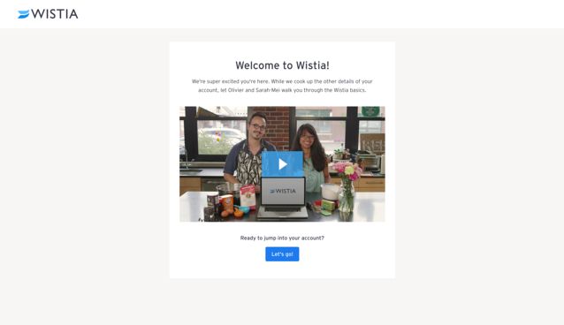 user onboarding welcome video