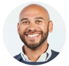This is a picture of Jason Amunwa. This is a smiling headshot of a product manager and Saas consultant.