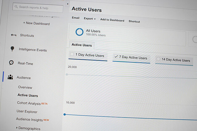 google analytics active users