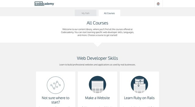 codecademy user onboarding welcome message