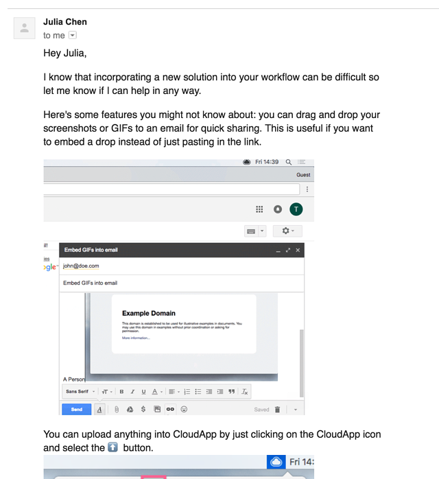 cloudapp onboarding email