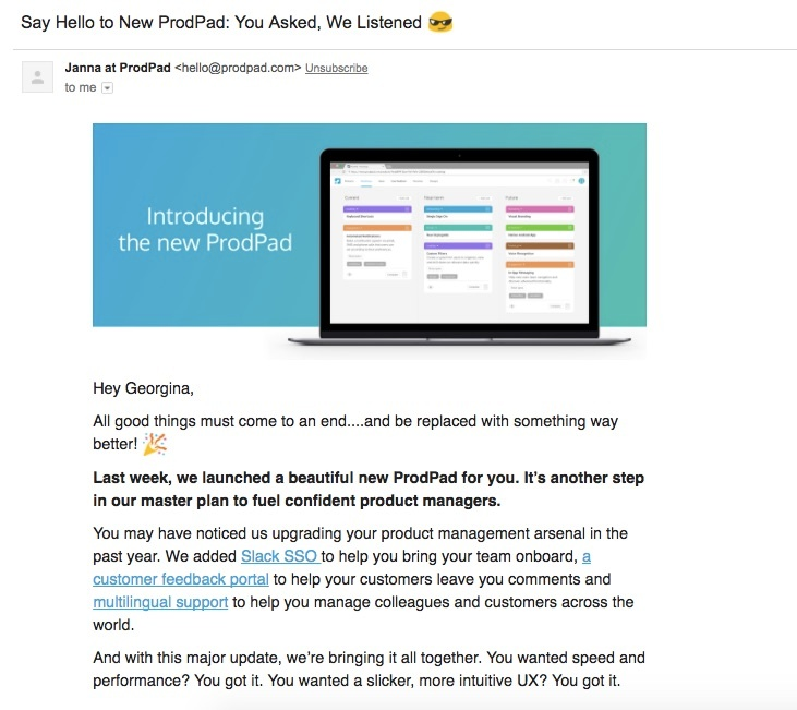 The 20 Best Product Launch Emails That Re-engage Users