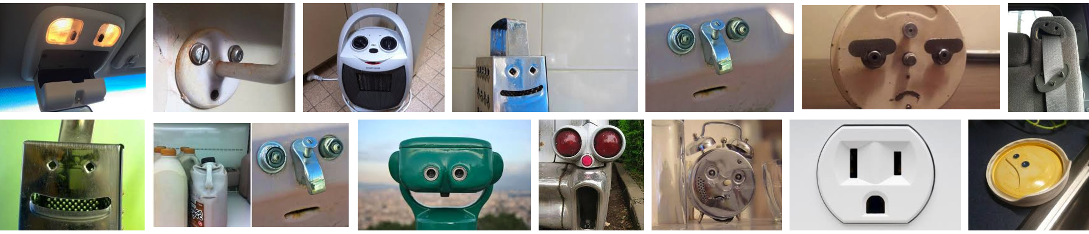 "A google image search of ""faces in objects"" shows funny faces"