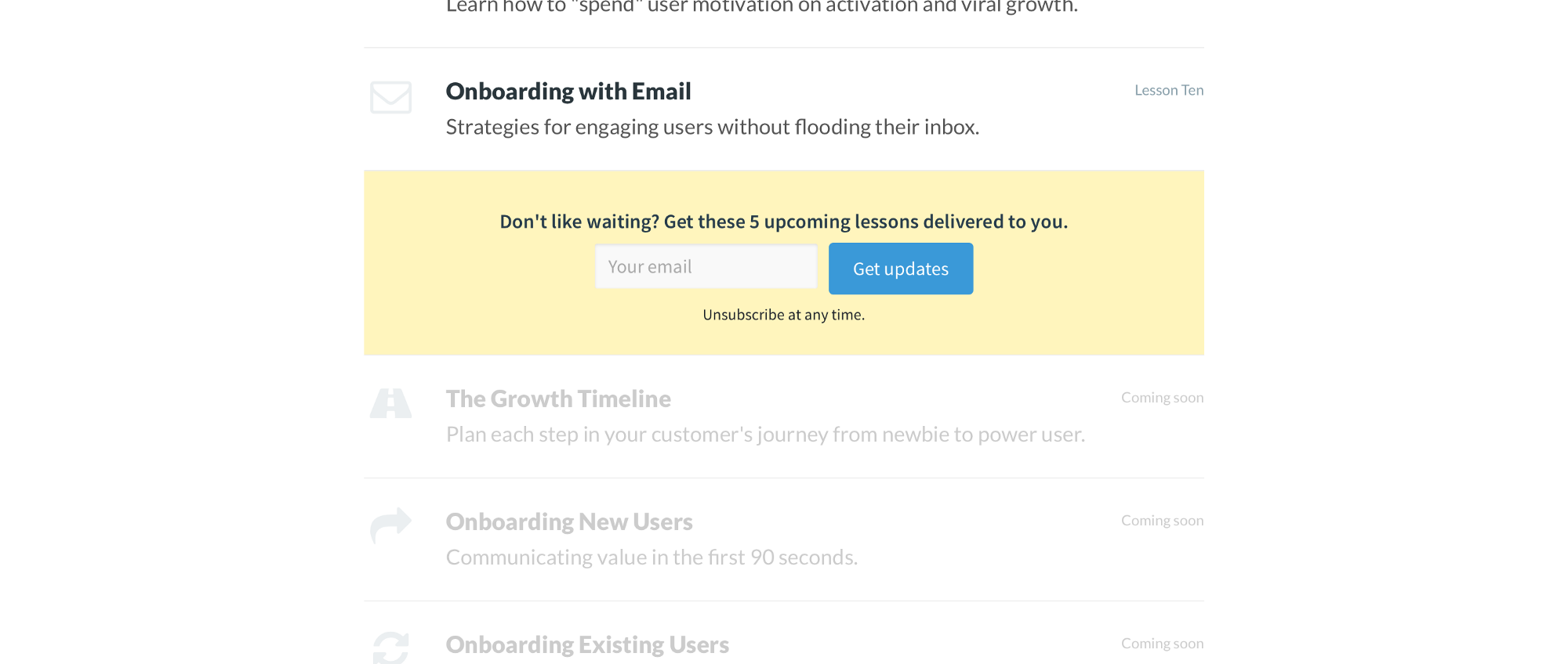 appcues onboarding academy lessons