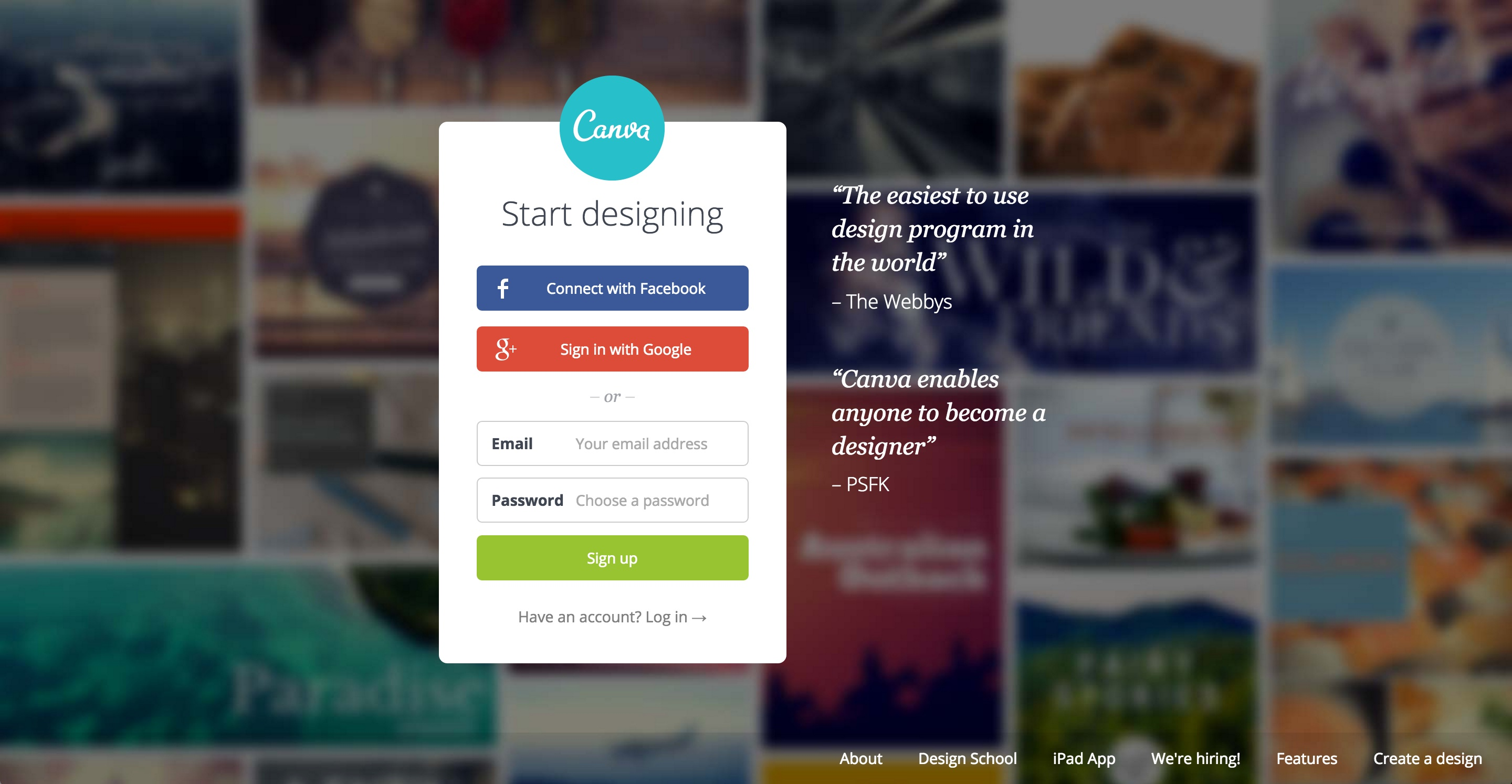 canva user onboarding step 1