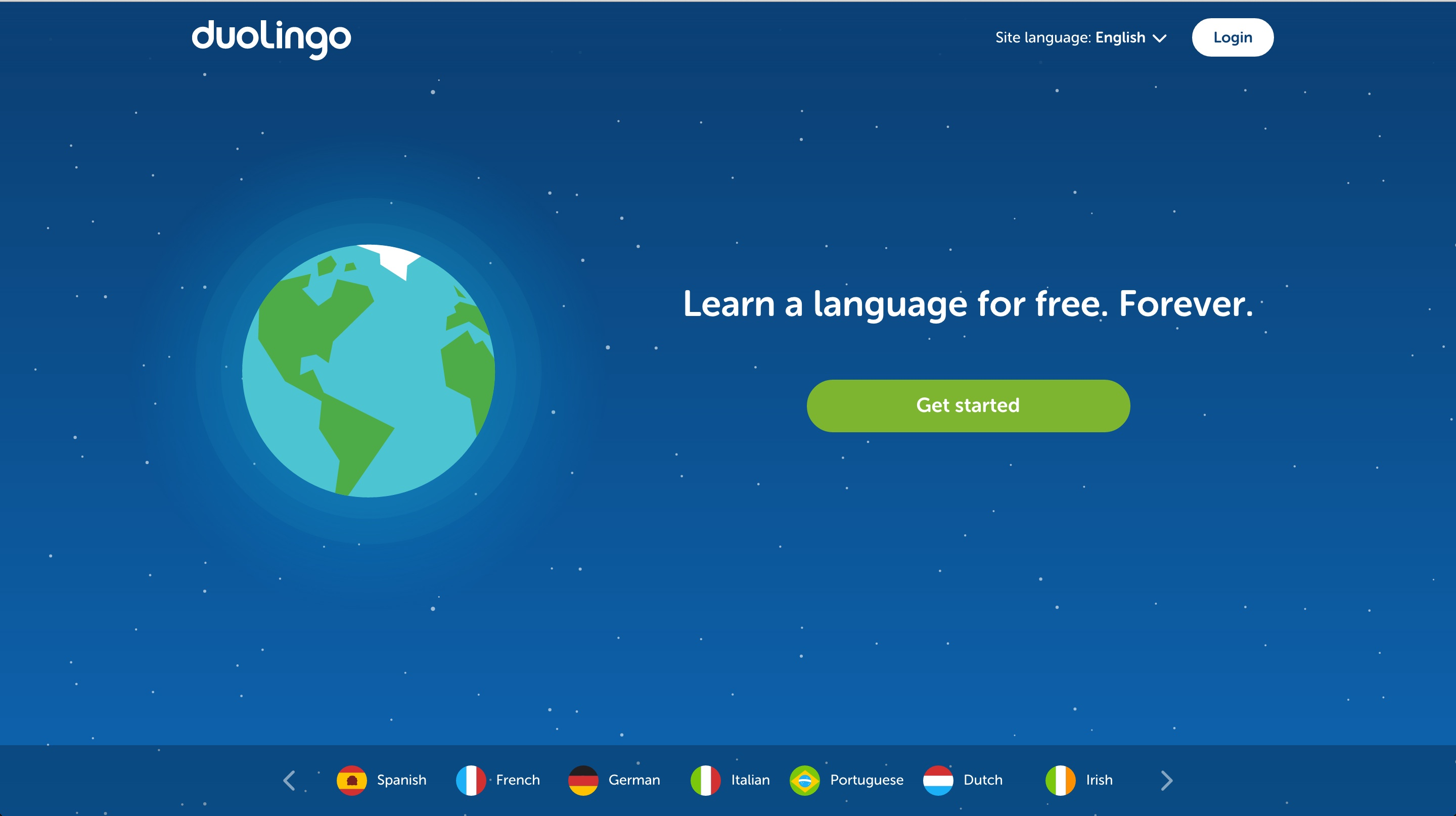 duolingo user onboarding step 1
