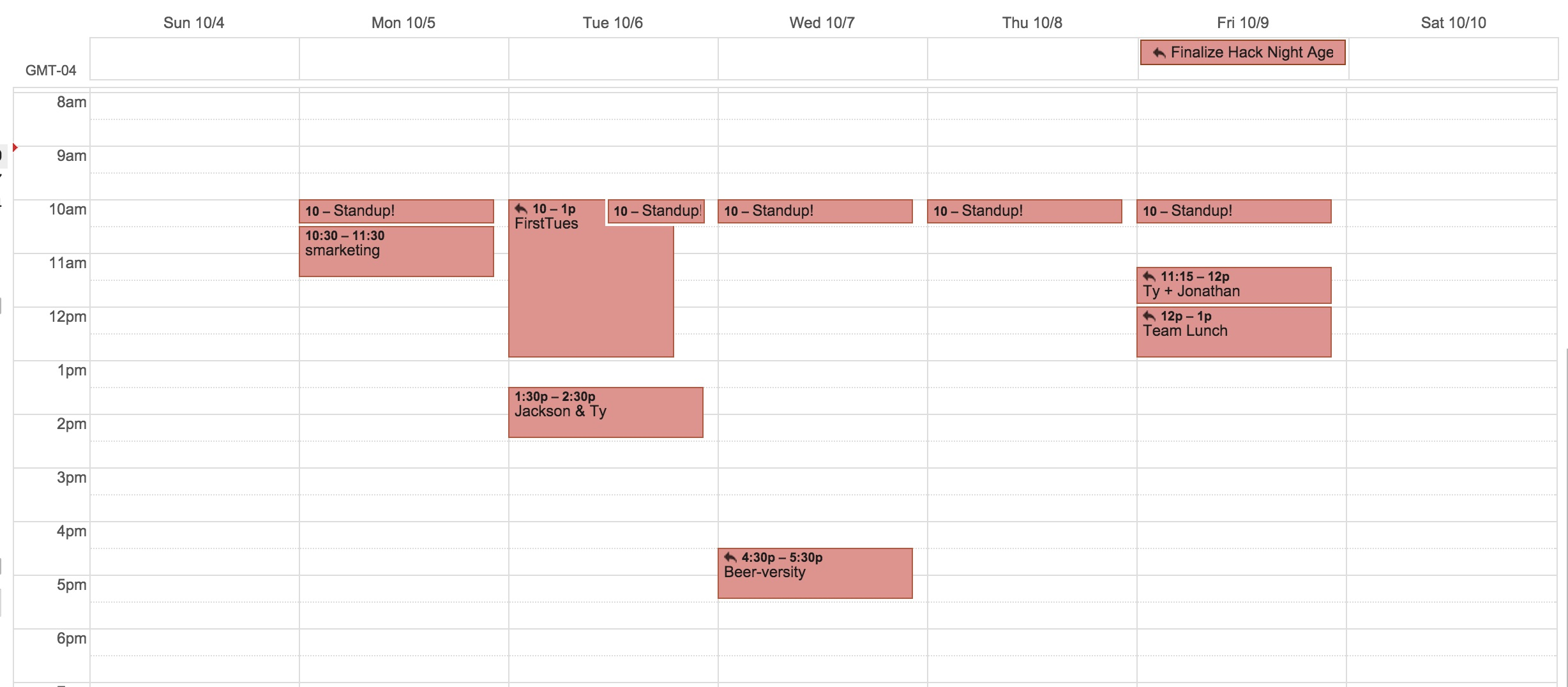 my-typical-week