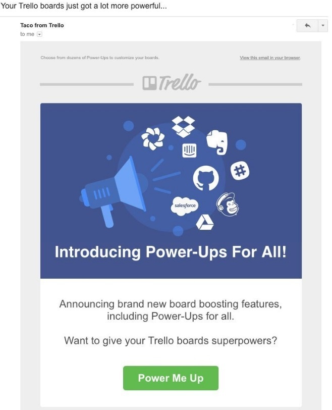 customer retention trello email
